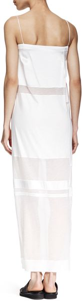 Helmut Lang Horizon Long Paneled Dress - Lyst