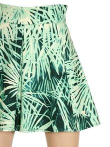 Fausto Puglisi Printed Stretch Cotton Denim Skirt - Lyst