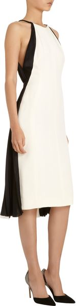 J. Mendel Pleatedback Halter Dress - Lyst