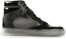 Balenciaga Striped Hitop Trainer - Lyst