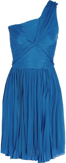 Halston Heritage One-shoulder Plisse Jersey Dress - Lyst