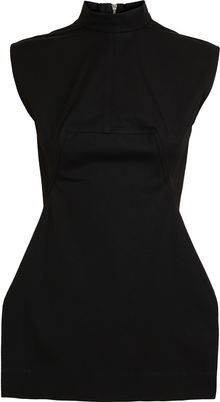 Rick Owens Structured Cotton Tunic Top - Lyst