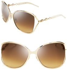 Gucci Oversized Chainlink Sunglasses - Lyst