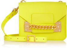 Sophie Hulme Envelope Chainembellished Mini Leather Shoulder Bag - Lyst