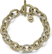 Michael Kors Crystallized Goldtone Braided Chain Bracelet - Lyst