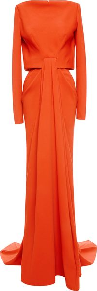 Zac Posen Stretch Crepe Gown - Lyst