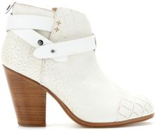 Rag & Bone Harrow Croceffect Leather Ankle Boots - Lyst