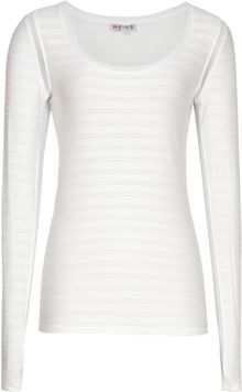 Reiss Minzi Textured Long Sleeve Top - Lyst
