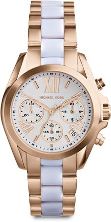 Michael Kors Rose Goldtonefinished Stainless Steel Chronograph Link Bracelet Watch - Lyst