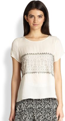 Parker Nomad Silk Beaded Top - Lyst