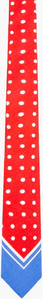 Burberry Prorsum Red Polka Dot Tie - Lyst