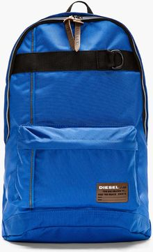 Diesel Cobalt Blue Canvas Clubber Backpack - Lyst