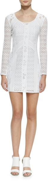 Nanette Lepore Bombshell Formfitting Lace Dress - Lyst