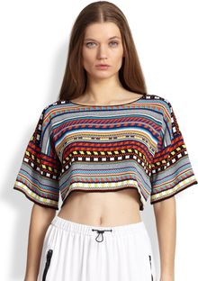Emilio Pucci Cropped Knit Top - Lyst