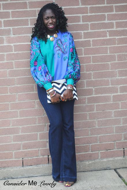 Color-blocked Paisley