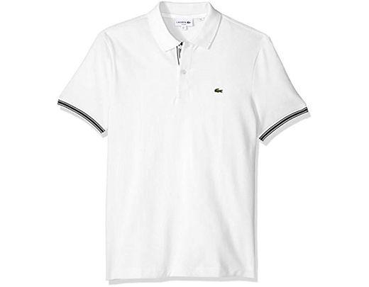 852559825e99 Lyst - Lacoste Short Sleeve Semi Fancy Petit Pique Slim Polo