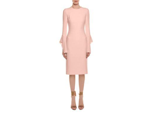 de06ecdc8e3 Lyst - Tom Ford Bell-sleeve Silk Sheath Cocktail Dress in Pink ...