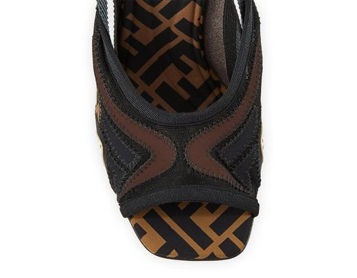 a894d169ff9a Lyst - Fendi Freedom Ff Patchwork Sandals in Black
