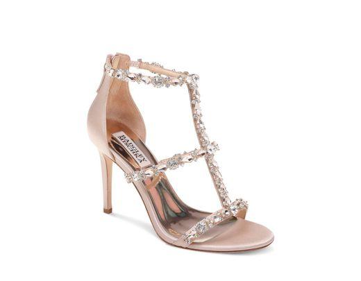 4c42de894317 Lyst - Badgley Mischka Women s Querida Embellished Metallic Satin ...