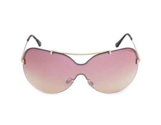 64efff977e Lyst - Tom Ford Ondria Shield Sunglasses in Red - Save 36%