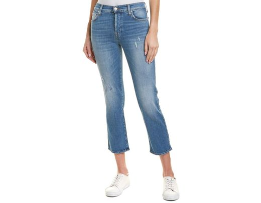5bbdee990395 7 For All Mankind 7 For All Mankind Edie Daydream High-rise Crop Straight  Leg in Blue - Save 1% - Lyst