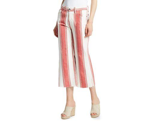 4ba63222c36 FRAME Vintage Cropped Stripe Jeans - Save 31% - Lyst