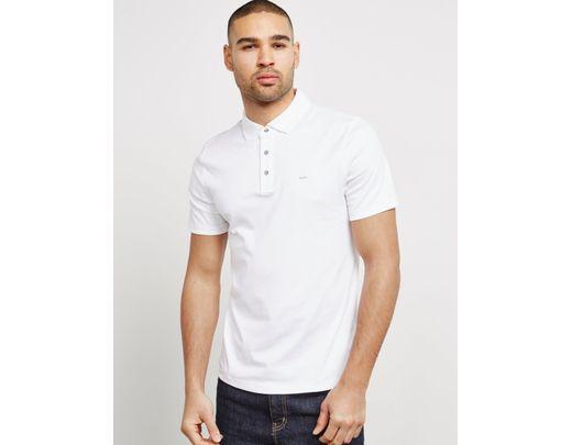 993f6a9b Michael Kors Sleek Short Sleeve Polo Shirt White in White for Men - Lyst