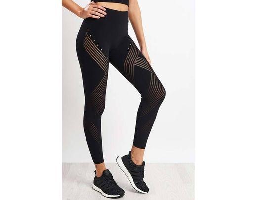 b685315c90d37c adidas Black Warp Knit High Rise 7/8 Tights in Black - Lyst