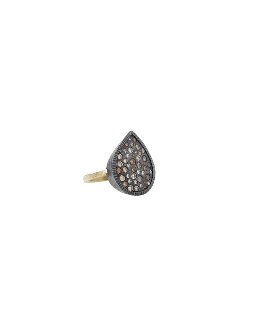 Todd Reed | Black Mixed Diamond Pear Ring | Lyst