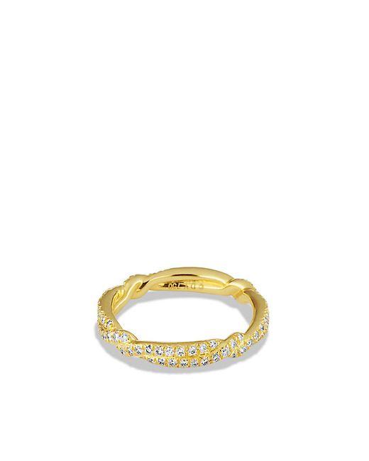 David Yurman | Metallic Wedding Band In Gold With Diamonds | Lyst
