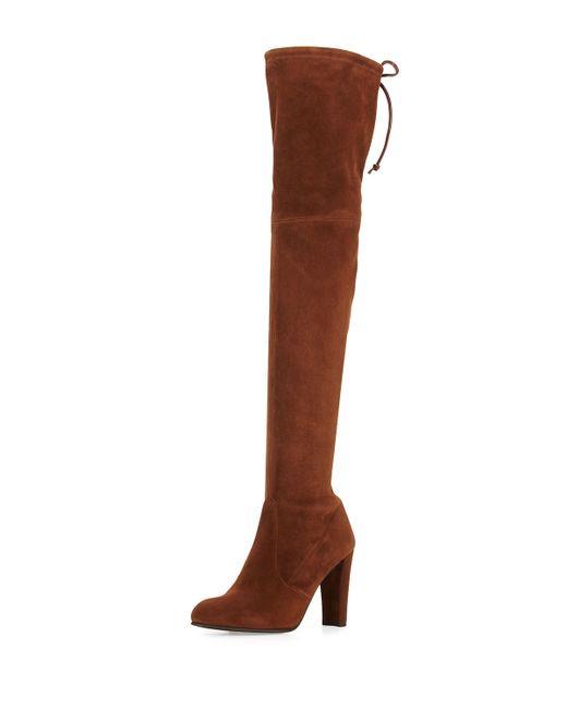 stuart weitzman highland suede the knee boot in
