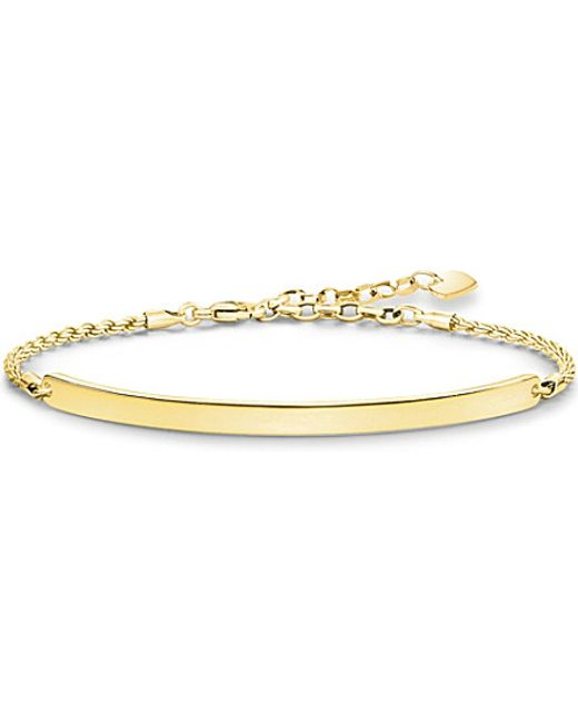 Thomas Sabo | Love Bridge 18ct Yellow Gold-plated Bracelet | Lyst