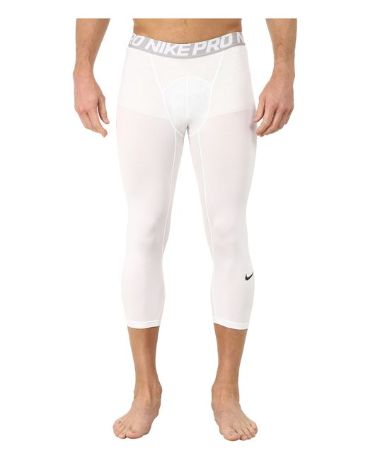 Nike | White Pro Cool 3/4 Compression Tight for Men | Lyst