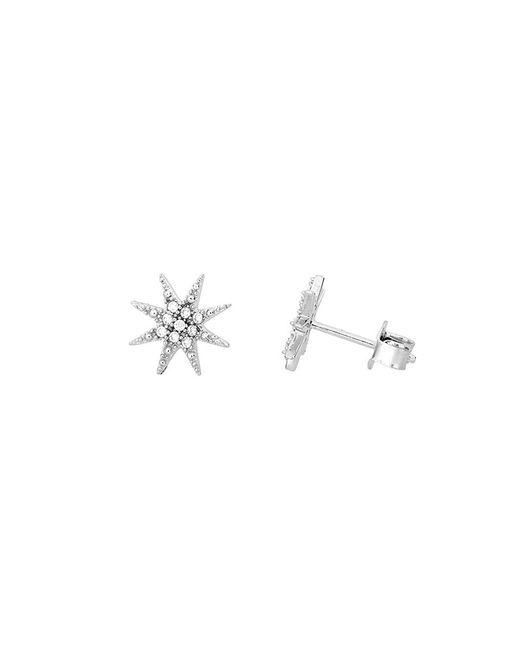 Azendi | Metallic Sterling Silver North Star Stud Earrings | Lyst