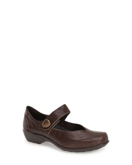 Romika | Brown Romika 'city Light 87' Leather Mary Jane Flat | Lyst