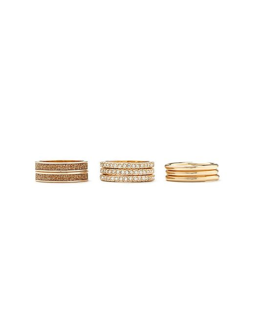 Forever 21 | Metallic Rhinestone And Glitter Ring Set | Lyst