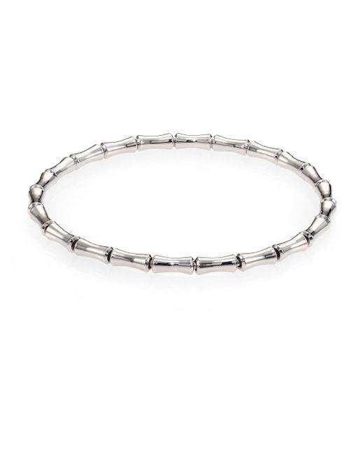 Gucci | Bamboo 18k White Gold Thin Bracelet | Lyst