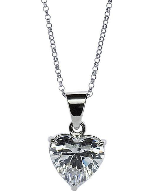 Carat* | Metallic Heart 2.5ct Solitaire Pendant Necklace | Lyst