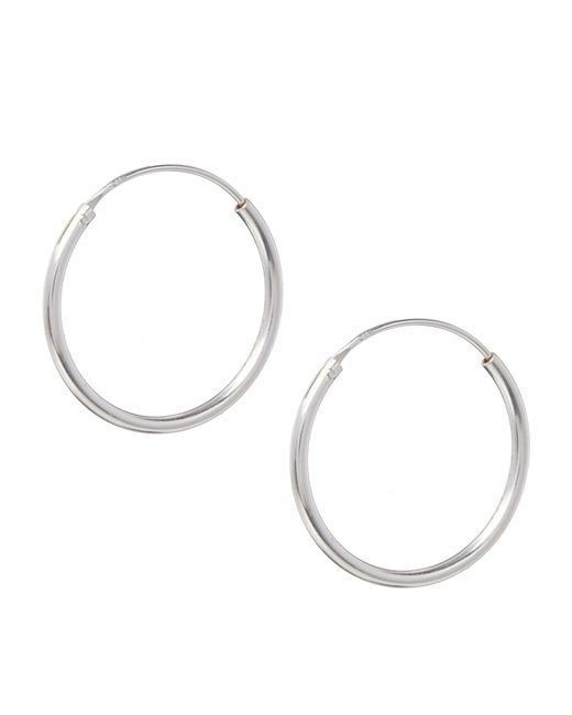 ASOS | Metallic Sterling Silver 20mm Hoop Earrings - Silver | Lyst