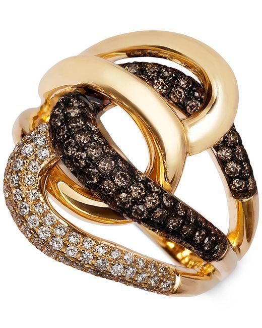 Le Vian | Metallic Chocolatier® Diamond Twist Ring (1 Ct. T.w.) In 14k Gold | Lyst