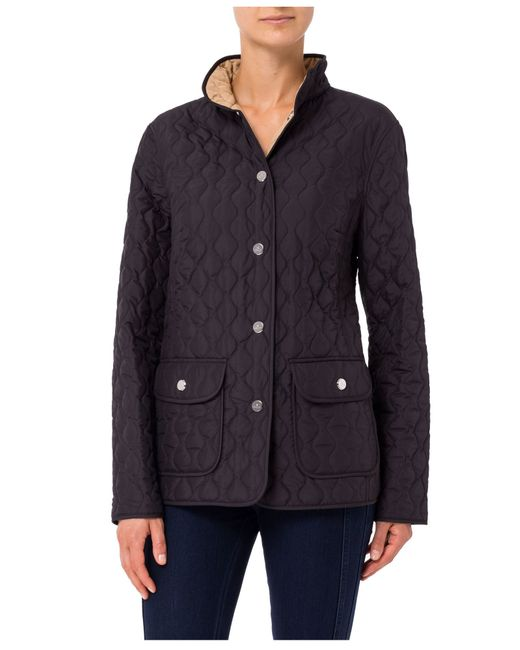 Basler Quilted Reversible Jacket In Black Save 51 Lyst