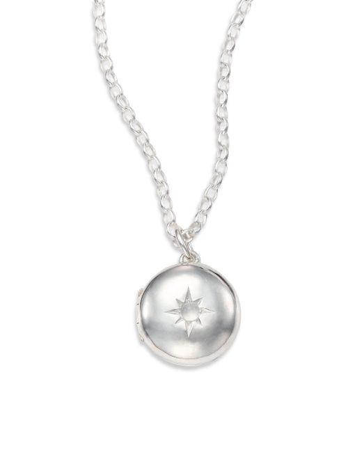 Astley Clarke | Metallic Moonstone & Sterling Silver Little Astley Locket Necklace | Lyst