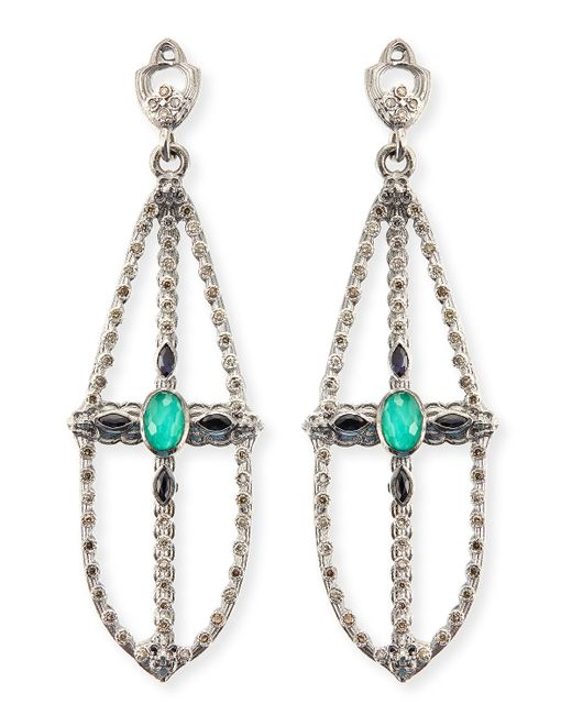Armenta | Metallic New World Elongated Pear Chandelier Earrings | Lyst