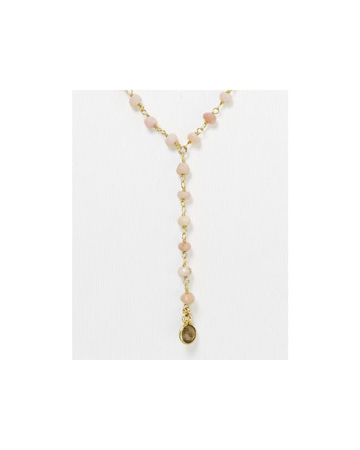 Ela Rae | Pink Yaeli Moonstone Necklace, 24"
