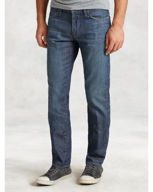 John Varvatos | Blue Bowery Jeans in Vernor Wash for Men | Lyst