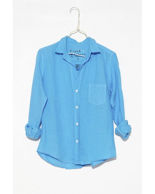 Frank Eileen Turquoise Barry Shirt In Blue Lyst
