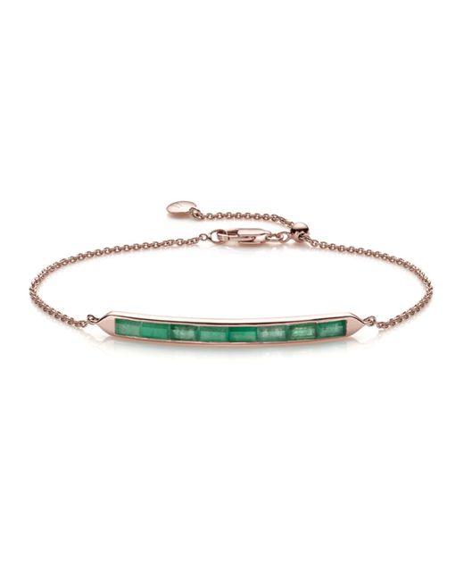 Monica Vinader | Green Baja Precious Skinny Bracelet | Lyst