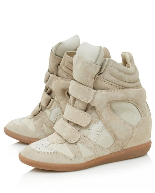 Isabel Marant | Natural - Étoile 'beckett' Hi-top Sneakers - Women - Calf Leather/leather/rubber - 37 | Lyst