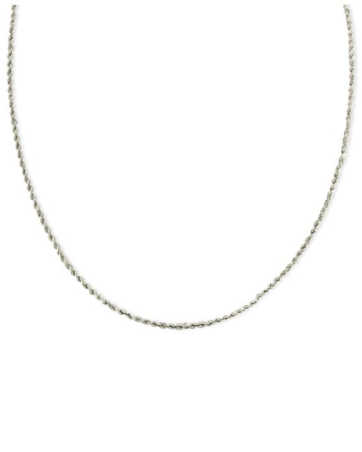 Macy's | Diamond Riviera Chain Necklace In 14K White Gold (10 Ct. T.W.) | Lyst