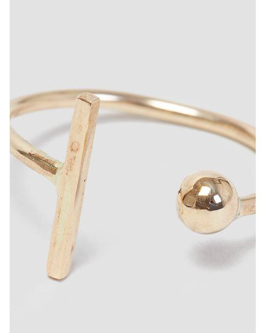 Alice Eden | Metallic Dot Dash Ring Gold | Lyst